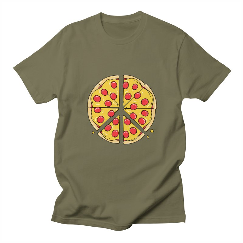 Give Pizza Chance Men's Regular T-Shirt by I am a graphic designer