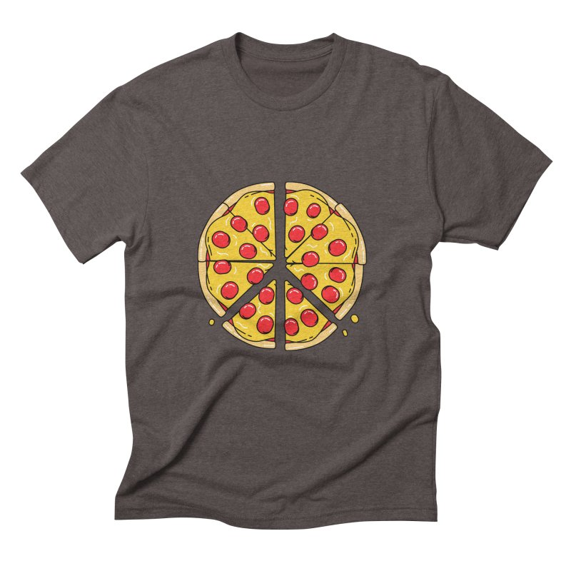 Give Pizza Chance Men's Triblend T-Shirt by I am a graphic designer