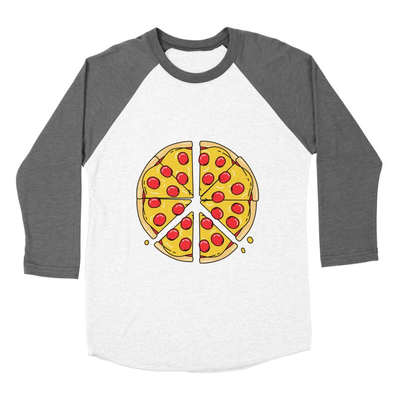 Give Pizza Chance Women's Baseball Triblend Longsleeve T-Shirt by I am a graphic designer