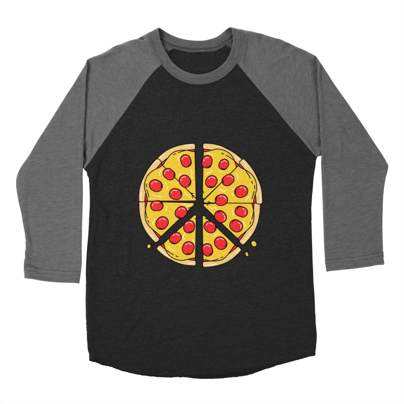 Give Pizza Chance Men's Baseball Triblend Longsleeve T-Shirt by I am a graphic designer