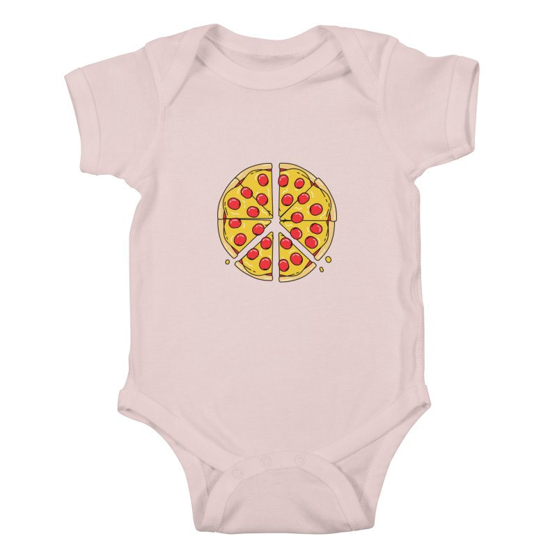 Give Pizza Chance Kids Baby Bodysuit by I am a graphic designer