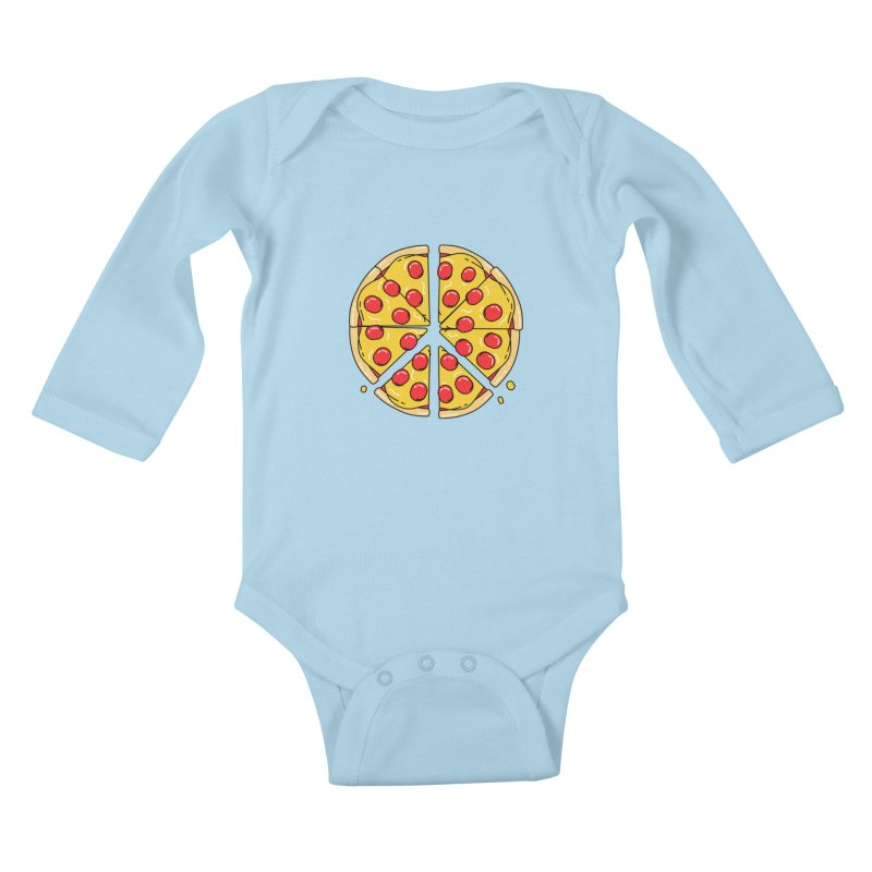 Give Pizza Chance Kids Baby Longsleeve Bodysuit by I am a graphic designer
