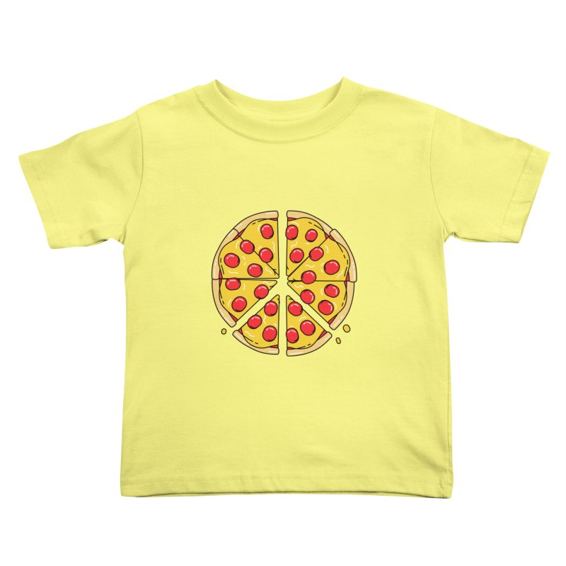 Give Pizza Chance Kids Toddler T-Shirt by I am a graphic designer