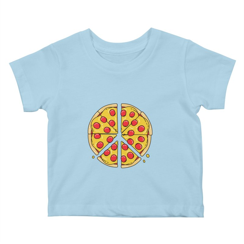 Give Pizza Chance Kids Baby T-Shirt by I am a graphic designer