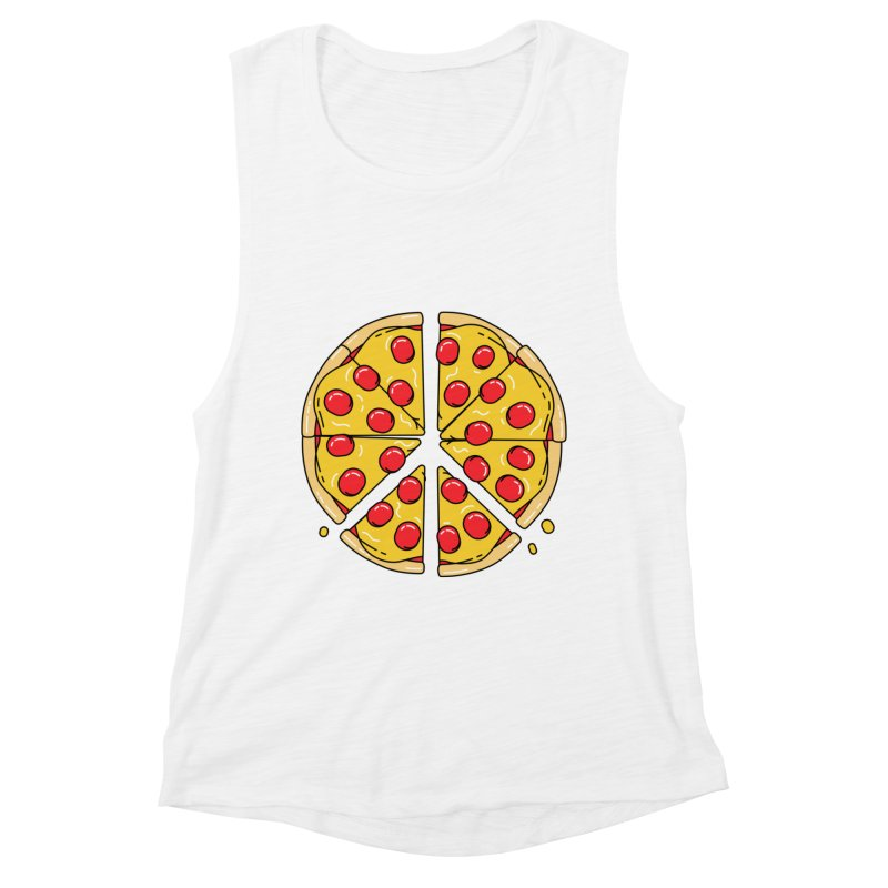 Give Pizza Chance Women's Muscle Tank by I am a graphic designer