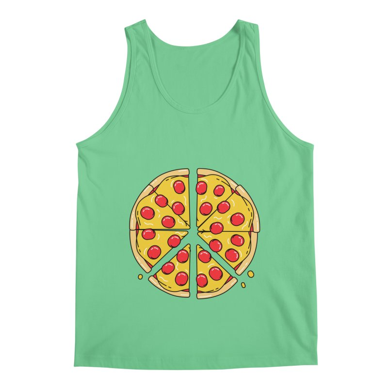 Give Pizza Chance Men's Regular Tank by I am a graphic designer