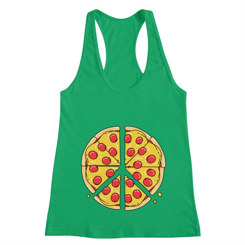Give Pizza Chance Women's Racerback Tank by I am a graphic designer