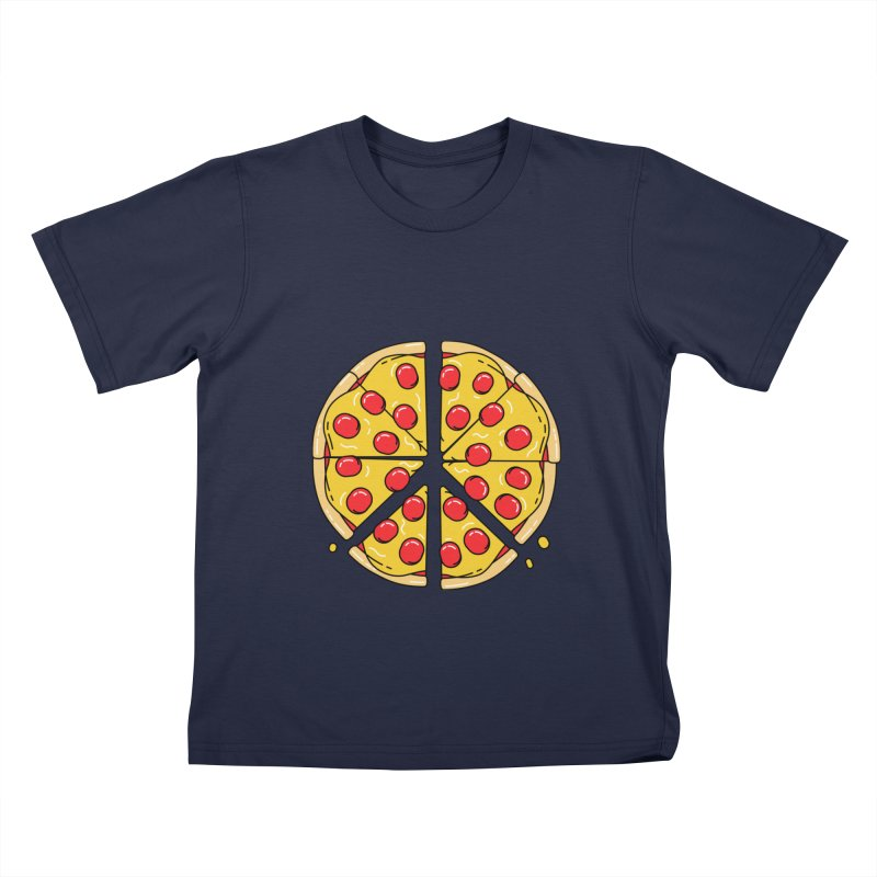 Give Pizza Chance Kids T-Shirt by I am a graphic designer