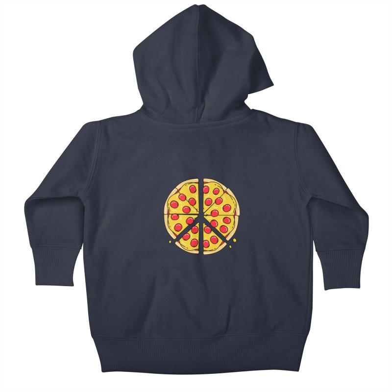 Give Pizza Chance Kids Baby Zip-Up Hoody by I am a graphic designer