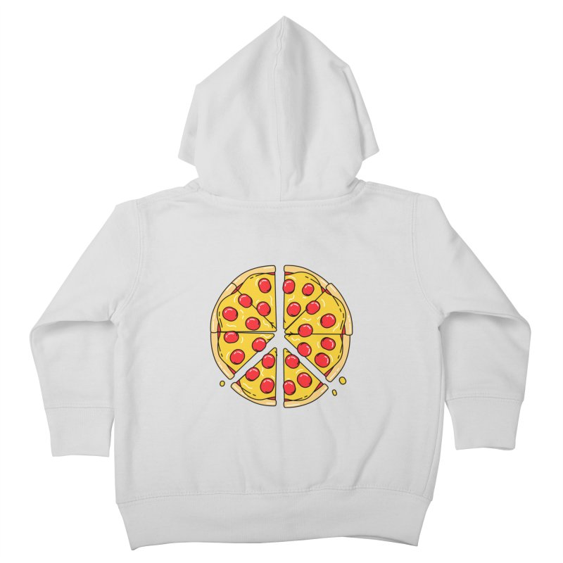 Give Pizza Chance Kids Toddler Zip-Up Hoody by I am a graphic designer