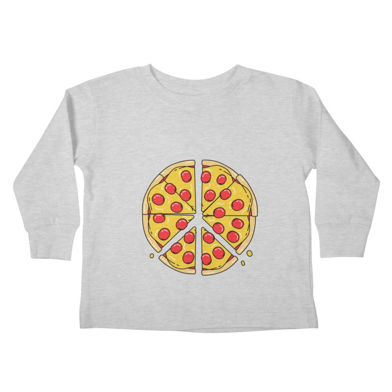 Give Pizza Chance Kids Toddler Longsleeve T-Shirt by I am a graphic designer