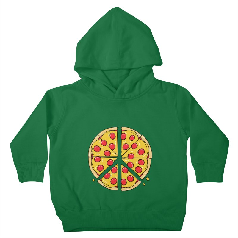 Give Pizza Chance Kids Toddler Pullover Hoody by I am a graphic designer