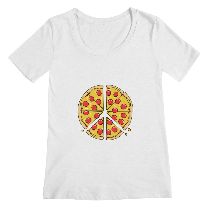 Give Pizza Chance Women's Regular Scoop Neck by I am a graphic designer