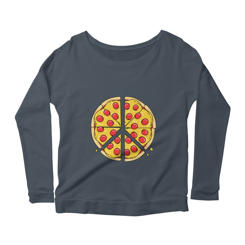 Give Pizza Chance Women's Scoop Neck Longsleeve T-Shirt by I am a graphic designer