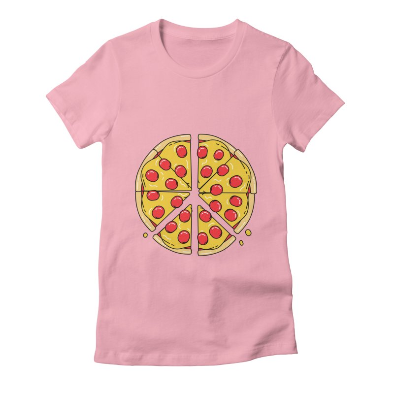 Give Pizza Chance Women's Fitted T-Shirt by I am a graphic designer