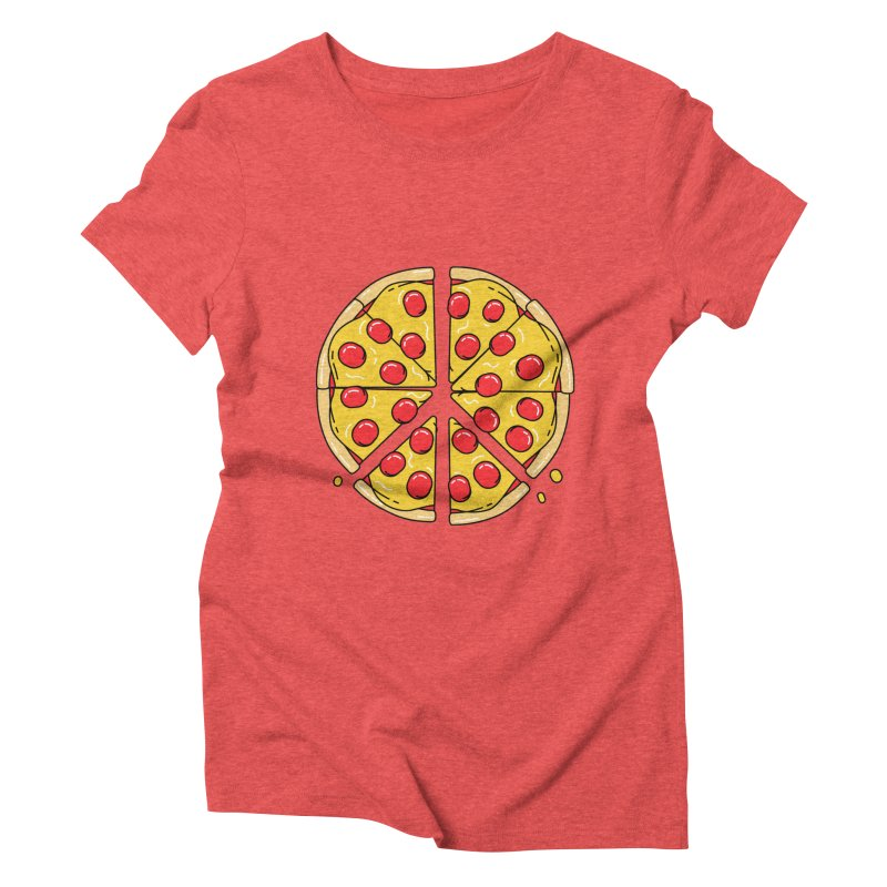 Give Pizza Chance Women's Triblend T-Shirt by I am a graphic designer