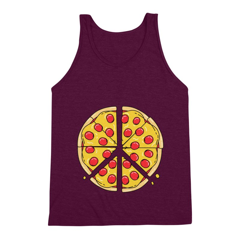 Give Pizza Chance Men's Triblend Tank by I am a graphic designer