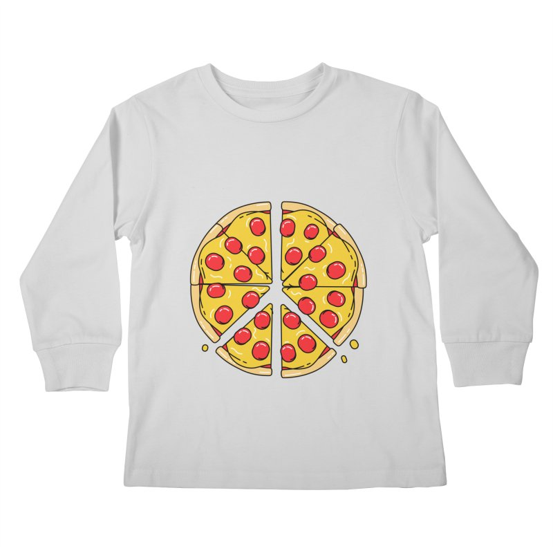 Give Pizza Chance Kids Longsleeve T-Shirt by I am a graphic designer