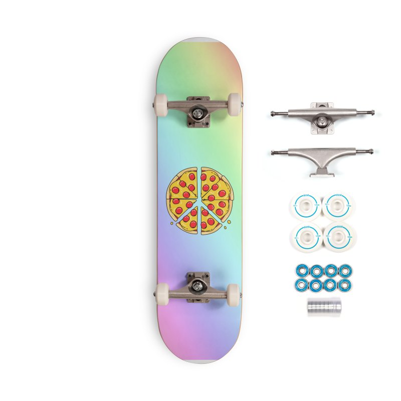 Give Pizza Chance Accessories Complete - Basic Skateboard by I am a graphic designer