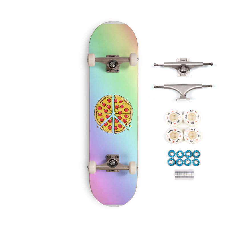 Give Pizza Chance Accessories Complete - Premium Skateboard by I am a graphic designer