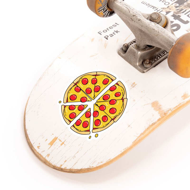 Give Pizza Chance Accessories Sticker by I am a graphic designer