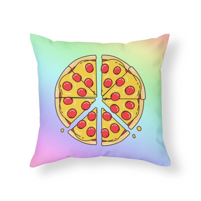 Give Pizza Chance Home Throw Pillow by I am a graphic designer