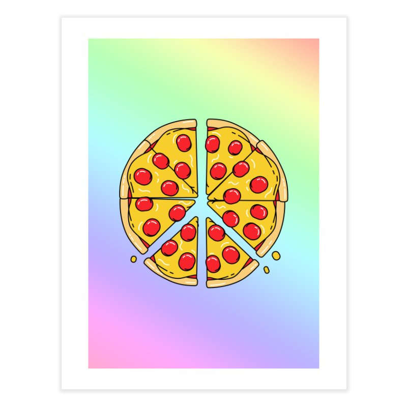 Give Pizza Chance Home Fine Art Print by I am a graphic designer
