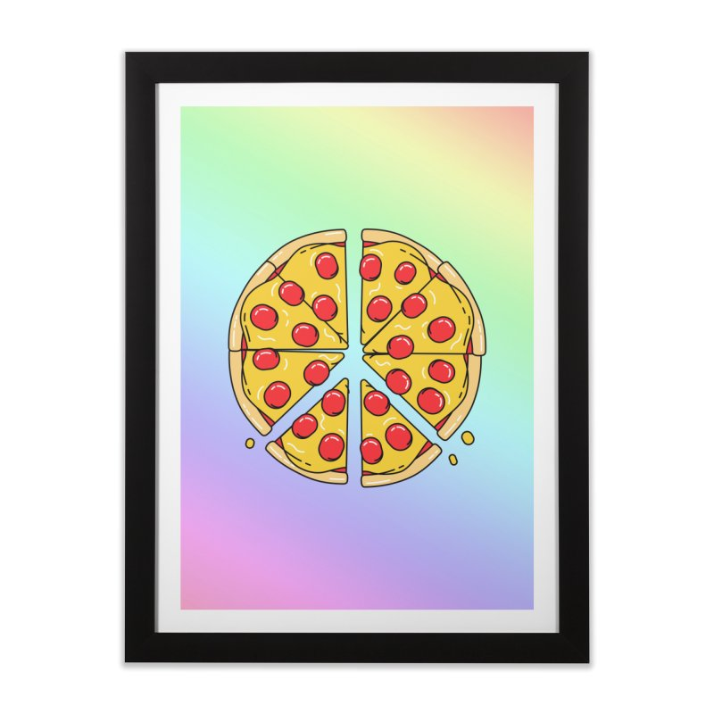 Give Pizza Chance Home Framed Fine Art Print by I am a graphic designer