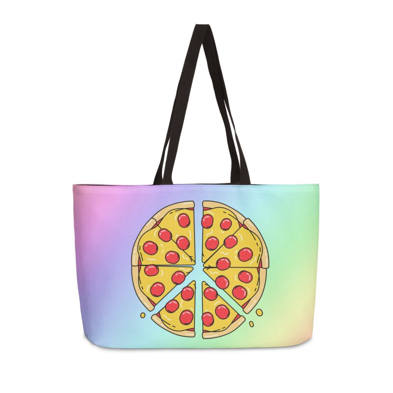 Give Pizza Chance Accessories Weekender Bag Bag by I am a graphic designer