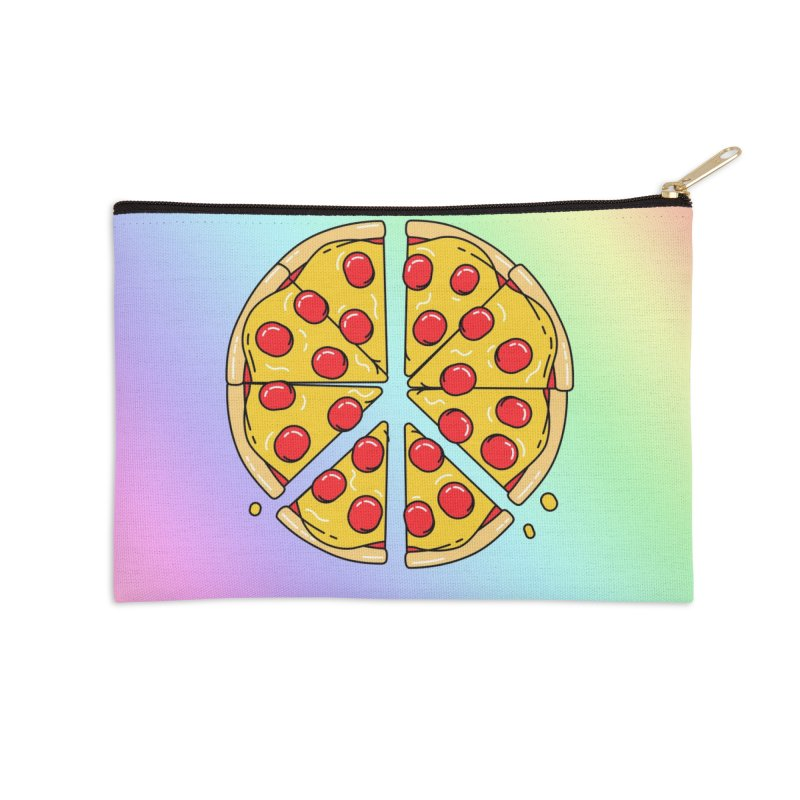 Give Pizza Chance Accessories Zip Pouch by I am a graphic designer