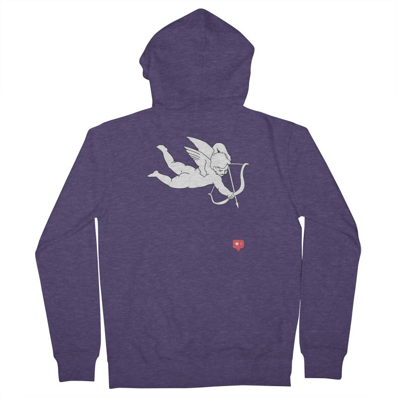 Modern Romance Men's French Terry Zip-Up Hoody by I am a graphic designer