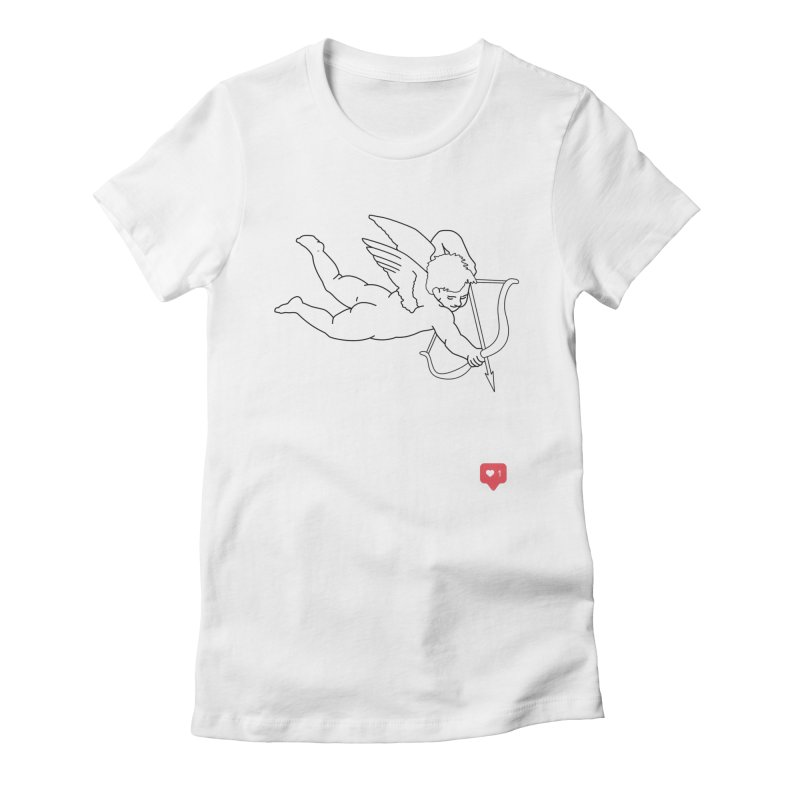 Modern Romance Women's Fitted T-Shirt by I am a graphic designer