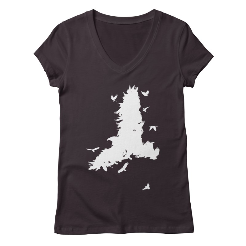 Safety In Numbers Women's Regular V-Neck by I am a graphic designer