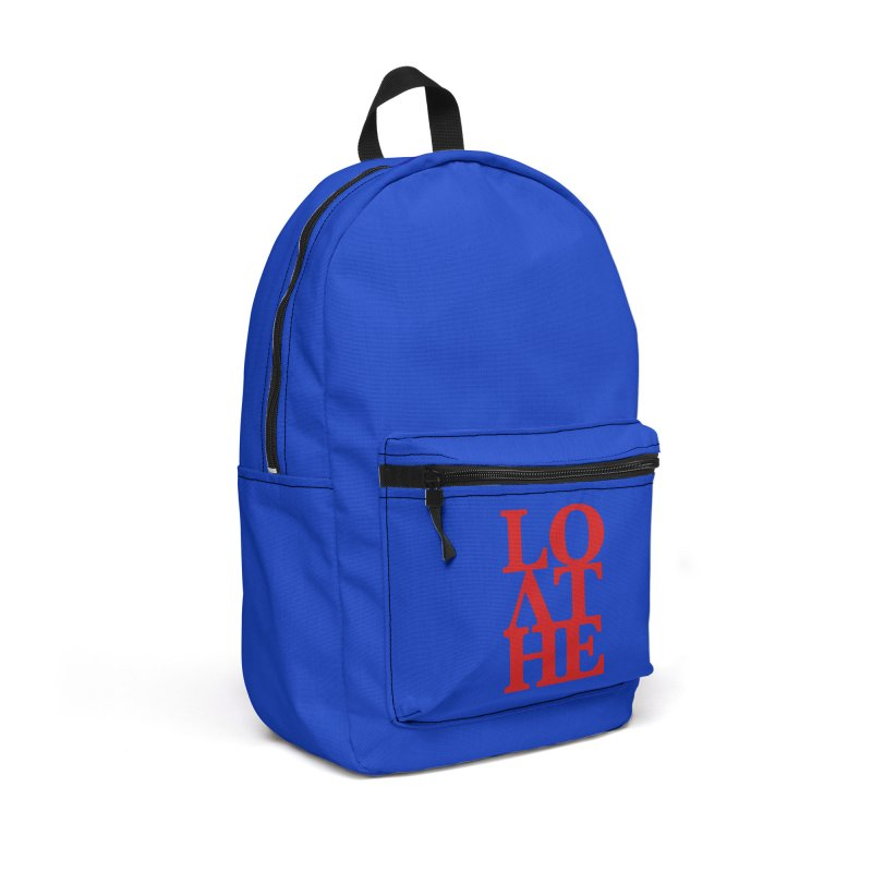 Love & Hate = Loathe Accessories Backpack Bag by I am a graphic designer