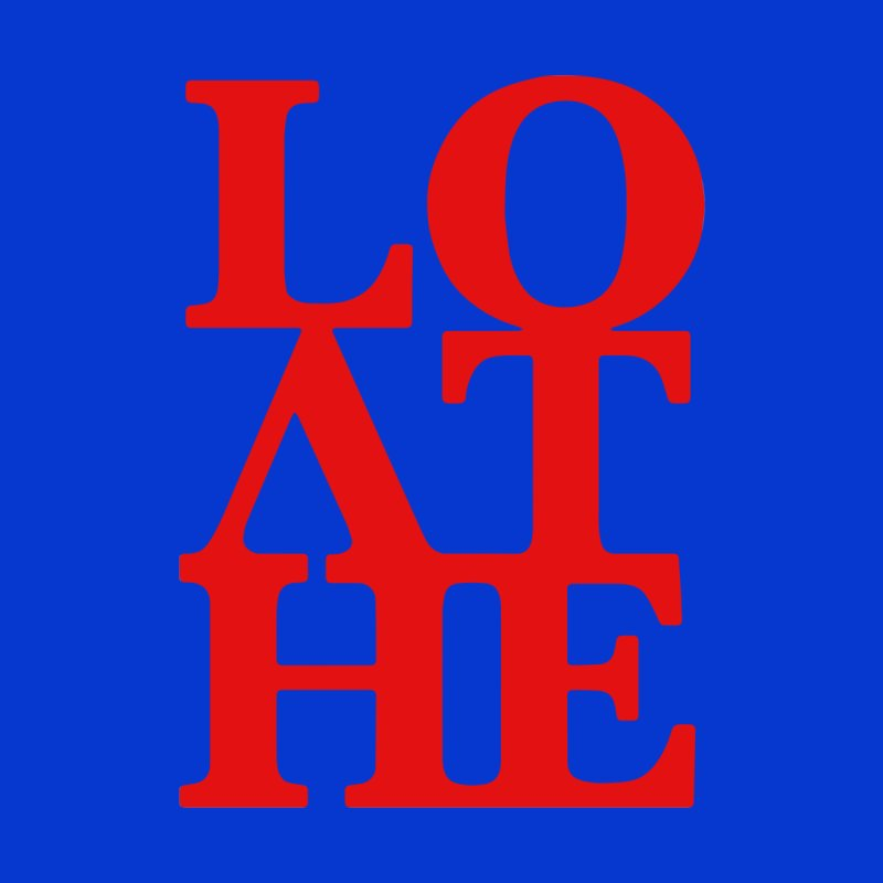Love & Hate = Loathe Men's T-Shirt by I am a graphic designer