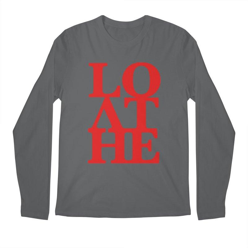 Love & Hate = Loathe Men's Regular Longsleeve T-Shirt by I am a graphic designer