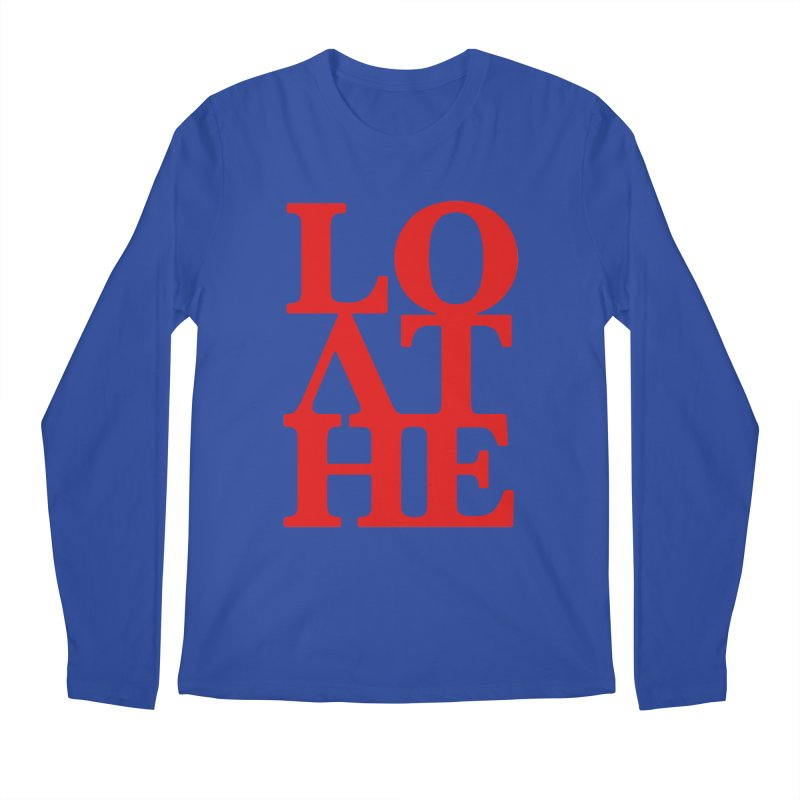 Love & Hate = Loathe Men's Regular Longsleeve T-Shirt by I am a graphic designer