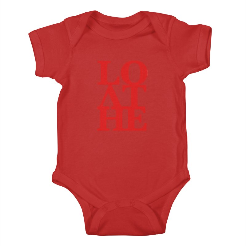 Love & Hate = Loathe Kids Baby Bodysuit by I am a graphic designer