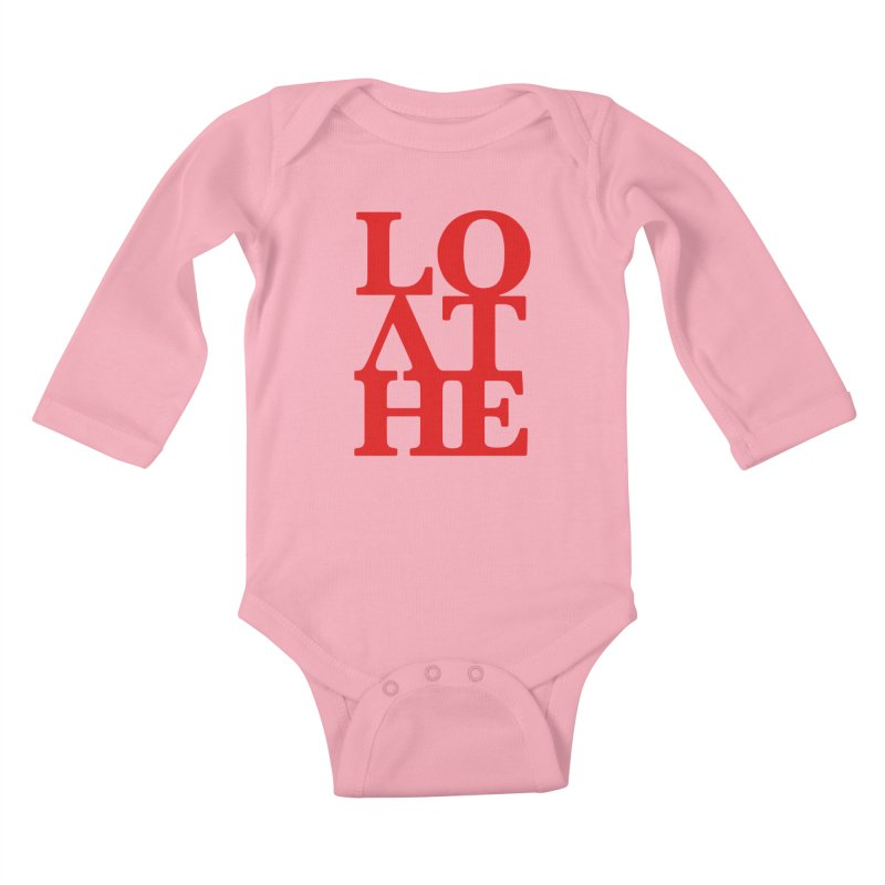 Love & Hate = Loathe Kids Baby Longsleeve Bodysuit by I am a graphic designer
