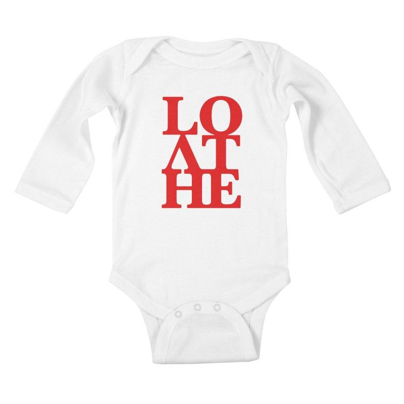 Love & Hate = Loathe Kids Baby Longsleeve Bodysuit by I am a graphic designer