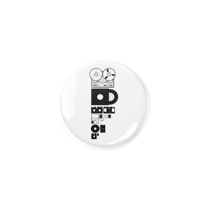 Dead Format Accessories Button by I am a graphic designer