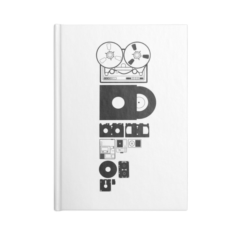 Dead Format Accessories Blank Journal Notebook by I am a graphic designer