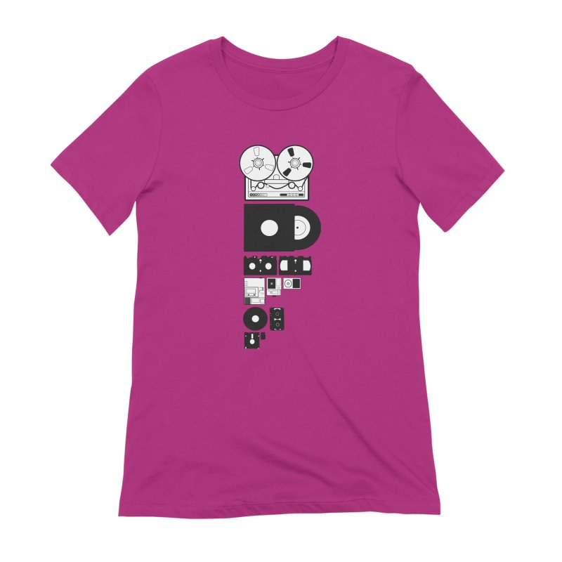 Dead Format Women's Extra Soft T-Shirt by I am a graphic designer