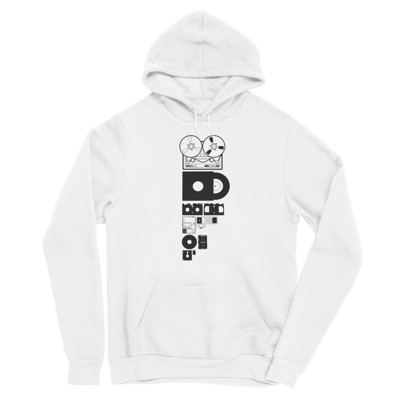 Dead Format Men's Sponge Fleece Pullover Hoody by I am a graphic designer