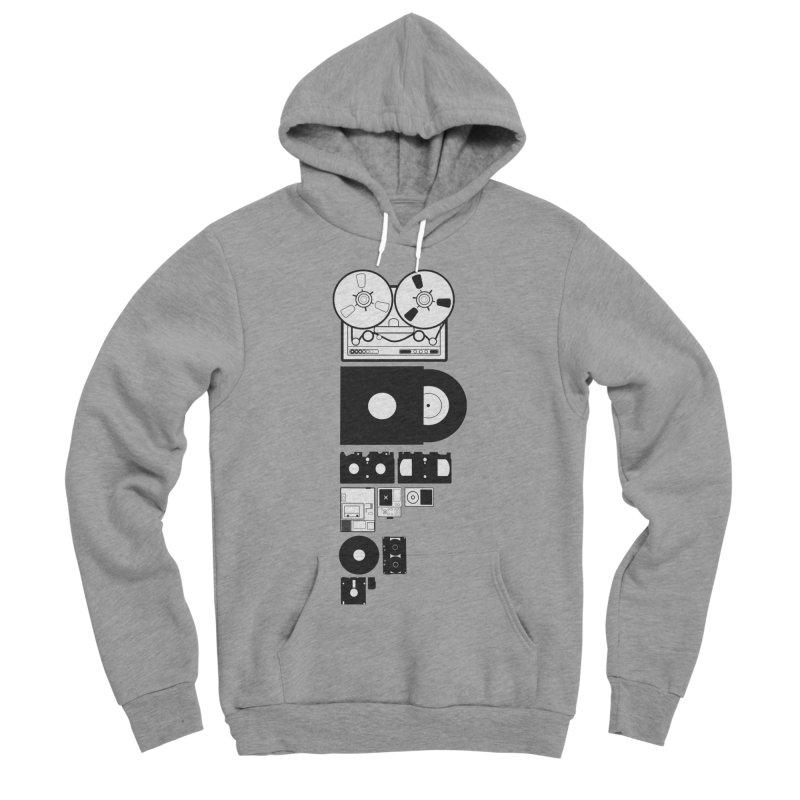 Dead Format Men's Sponge Fleece Pullover Hoody by I am a graphic designer