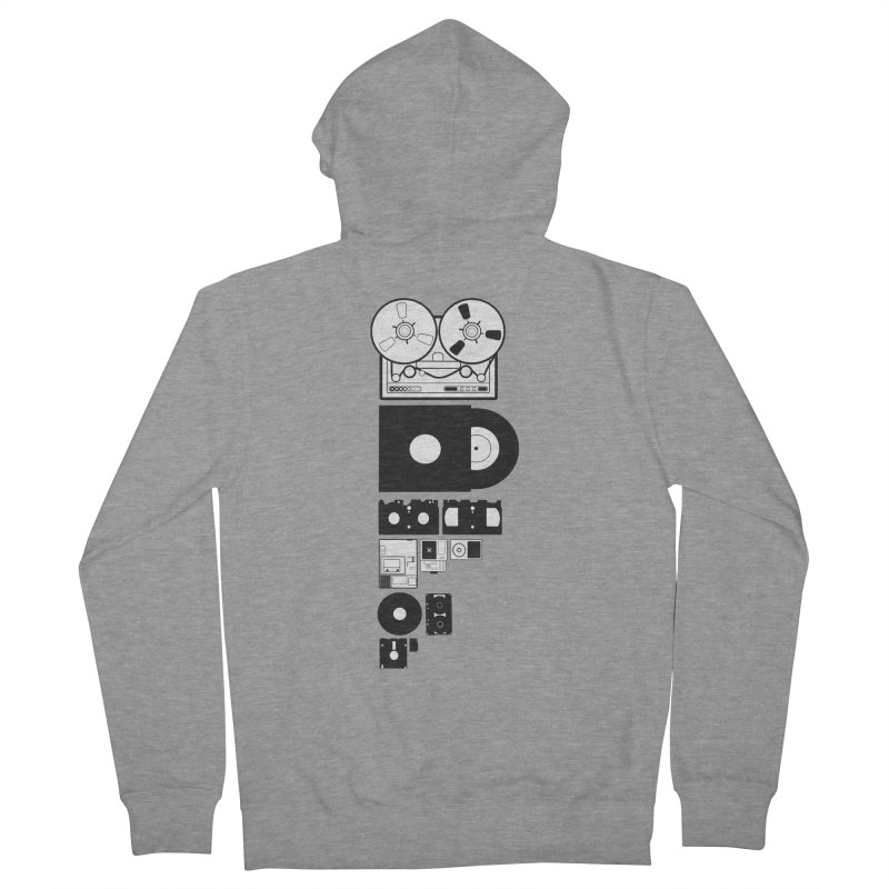 Dead Format Women's French Terry Zip-Up Hoody by I am a graphic designer
