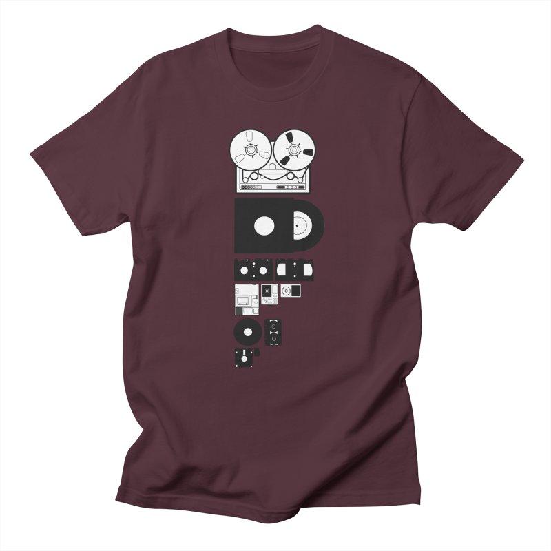 Dead Format Men's Regular T-Shirt by I am a graphic designer