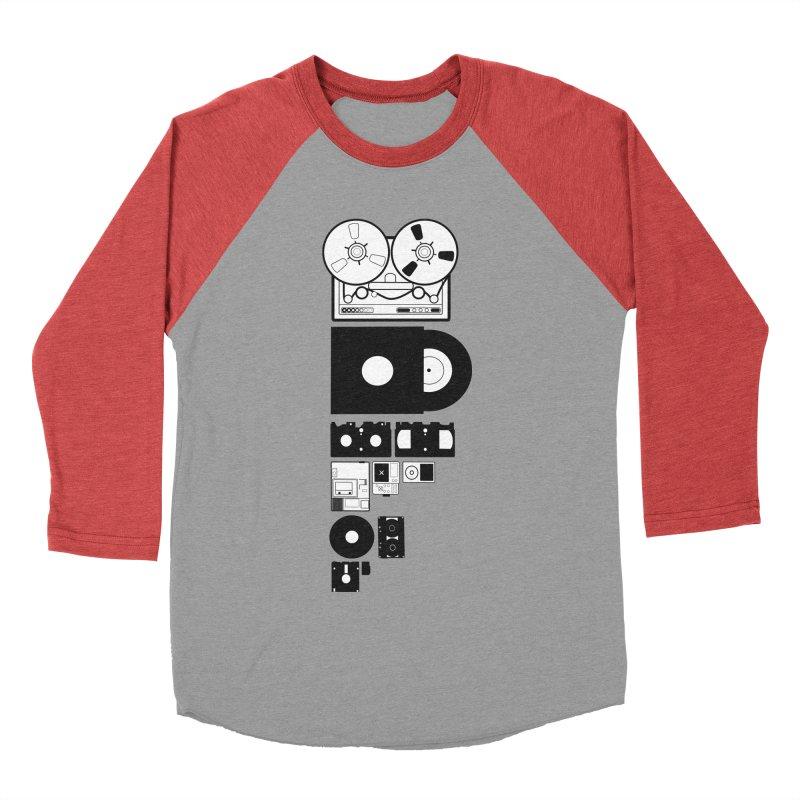 Dead Format Women's Baseball Triblend Longsleeve T-Shirt by I am a graphic designer