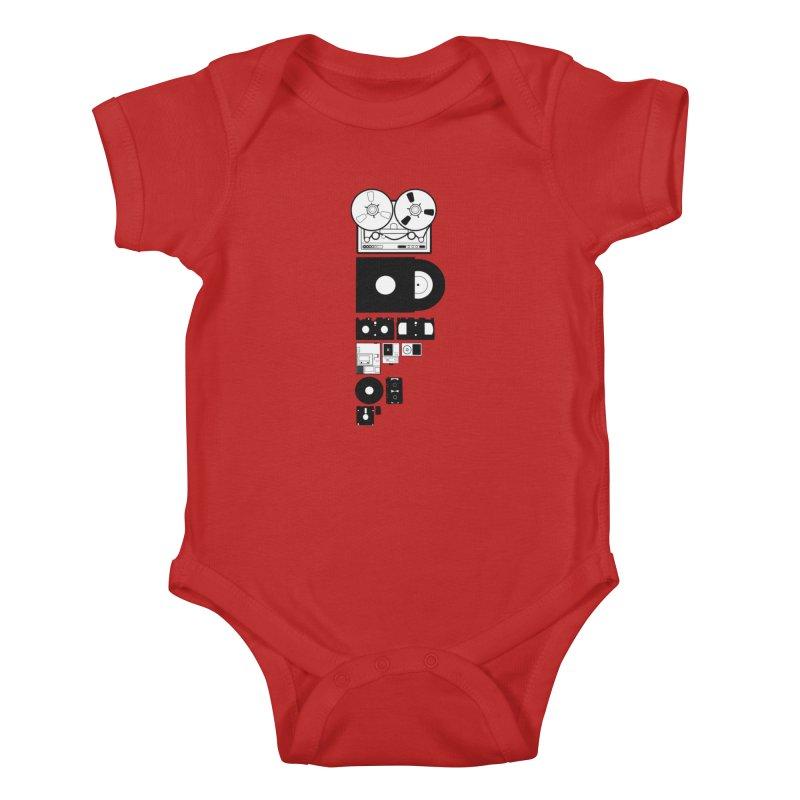 Dead Format Kids Baby Bodysuit by I am a graphic designer