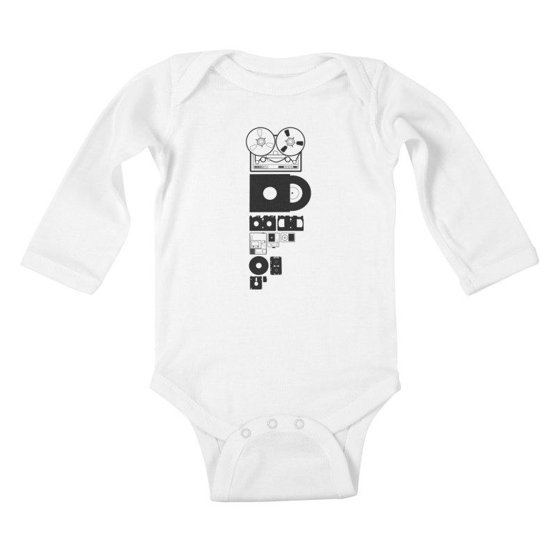 Dead Format Kids Baby Longsleeve Bodysuit by I am a graphic designer